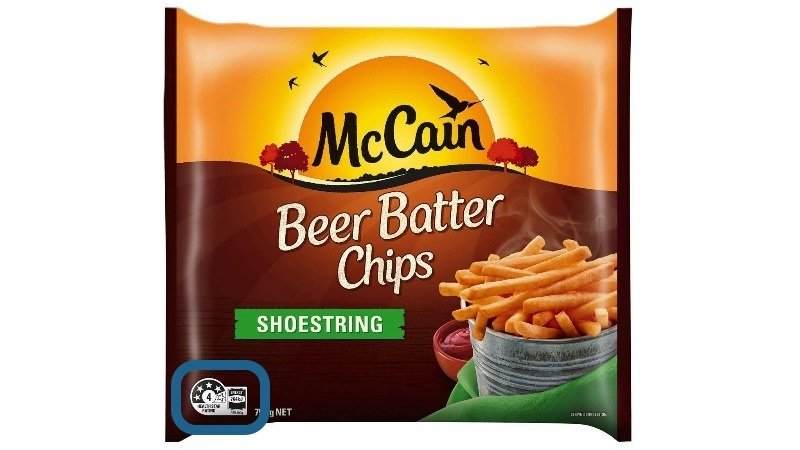 Beer Batter Chips 4 Health Star Rating