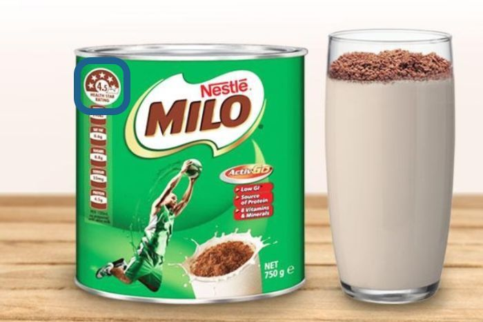 Milo 4.5 Health Star Rating