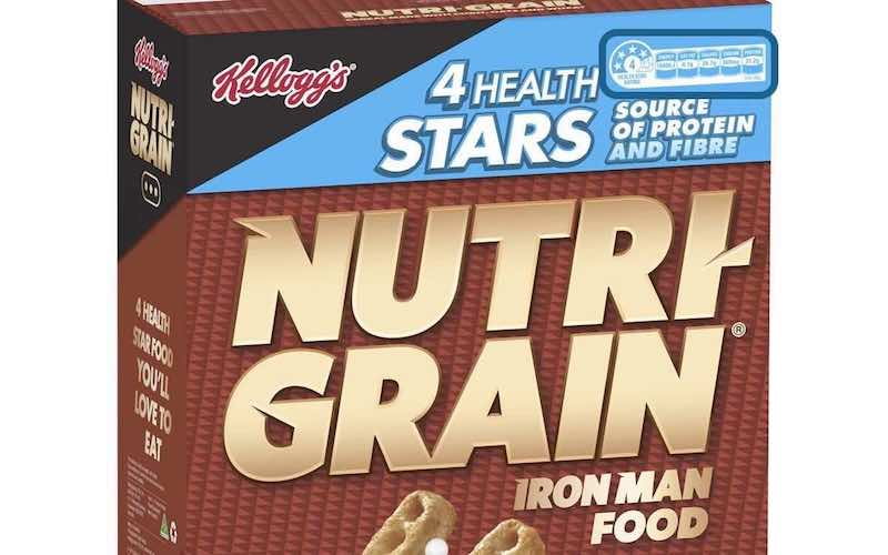 Nutrigrain 4 Health Star Rating